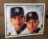 AMAZING Alex Rodriguez Derek Jeter NY Yankees Montage , Baseball-MLB - n/a, Final Score Products  - 1