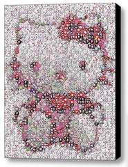 Framed Hello Kitty buttons mosaic 9X11 inch Limited Edition Art Print w/COA , Hello Kitty - n/a, Final Score Products  - 1
