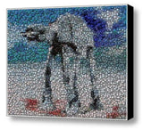 Amazing Framed Star Wars At-At Bottlecap mosaic print , Other - n/a, Final Score Products  - 1