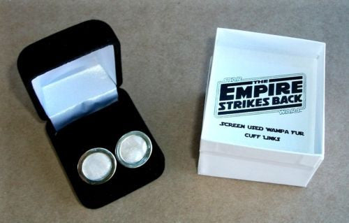 Star Wars The Empire Strikes Back screen used Wampa Fur prop Cuff Links
