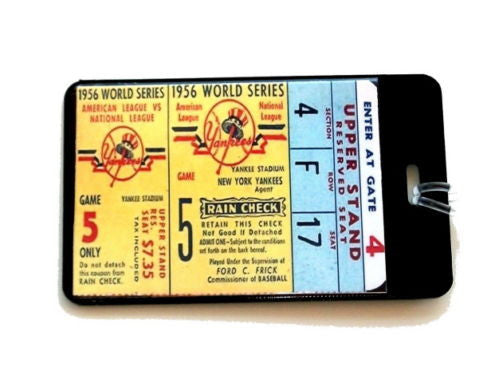 New York Yankees 1956 World Series Perfect game Tag , Baseball-MLB - n/a, Final Score Products  - 1