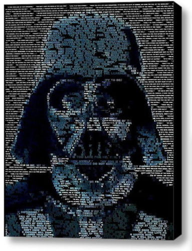 Star Wars Darth Vader Quotes Mosaic INCREDIBLE Framed 9X11 Limited Edition Art