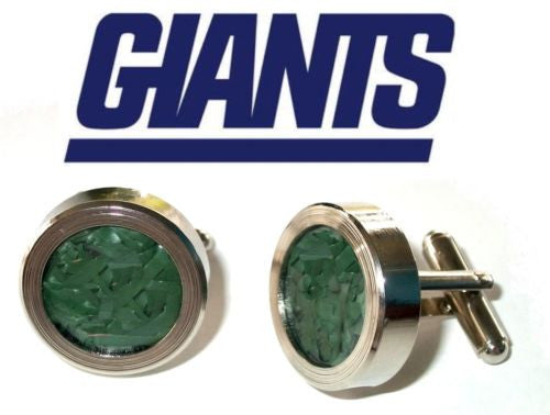 NY New York Giants Giants Game Used Turf Silver Cuff Links groomsmen wedding gif