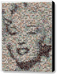Framed Marilyn Monroe Bubble incredible Mosaic Limited Edition Art Print COA , Other - n/a, Final Score Products  - 1