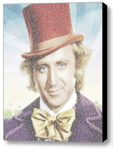 Amazing Willy Wonka Pure Imagination song Lyrics Mosaic 9X11 inch Framed Display