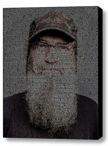 Duck Dynasty Si Quotes Mosaic INCREDIBLE Framed 9X11 Limited Edition Art w/COA , Other - n/a, Final Score Products  - 1