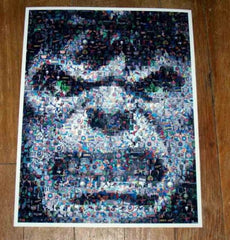 Amazing The Hulk face MARVEL COMICS Montage #ed to 25 , Other - n/a, Final Score Products  - 1