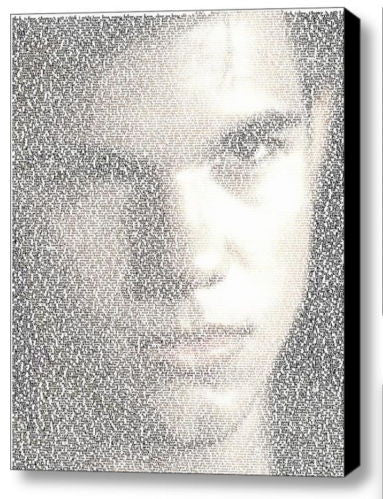 Jacob Black Twilight Word Mosaic INCREDIBLE Framed 9X11 inch Limited Edition , Keyrings - n/a, Final Score Products  - 1