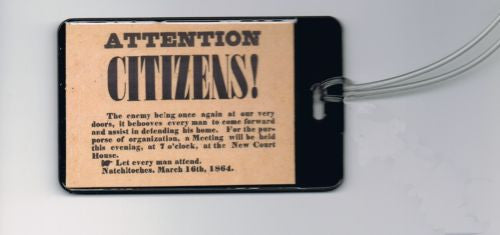 1864 Civil War flyer hand-out Luggage or Book Bag Tag , Other - n/a, Final Score Products  - 1
