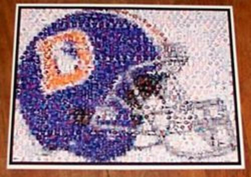 Amazing Denver Broncos 1980s helmet Montage. #ed to 25 , Football-NFL - n/a, Final Score Products  - 1