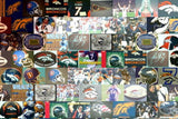 Amazing Denver Broncos 1980s helmet Montage. #ed to 25 , Football-NFL - n/a, Final Score Products  - 2