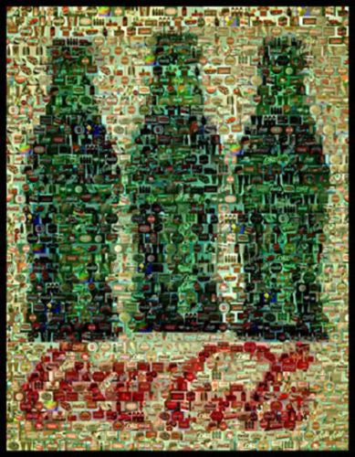 Amazng Three Coke Bottles Montage Limited Edition w/COA