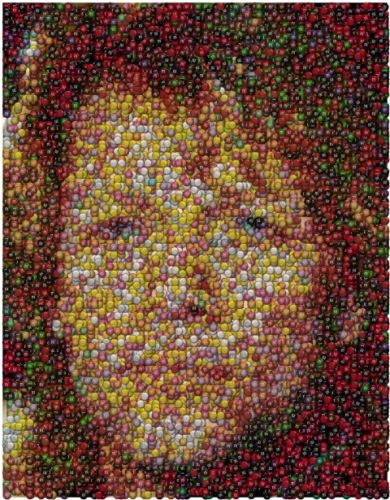 Jon Bon Jovi M&Ms Candy incredible Mosaic candies Limited Edition Art Print , Other - n/a, Final Score Products  - 1