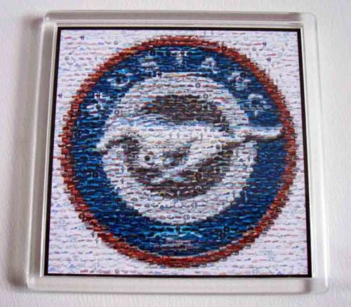 Ford Mustang 25th Anniversary Mosaic Coaster 4 X 4 inches