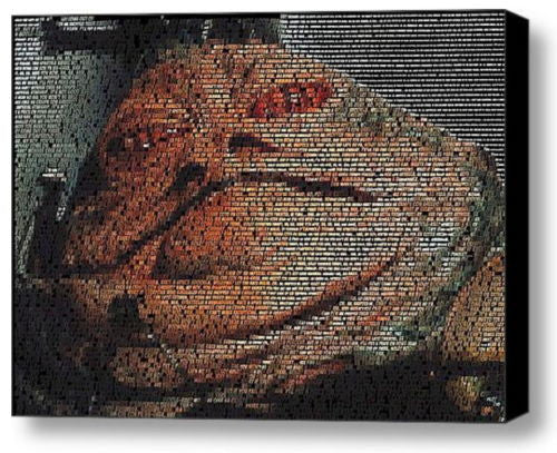 Star Wars Jabba The Hutt quotes Mosaic INCREDIBLE Framed 9X11 Limited Edition