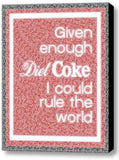 fun Diet Coke Rule The World Mosaic Framed 9X11 Limited Edition Art w/COA , Posters & Prints - n/a, Final Score Products  - 1