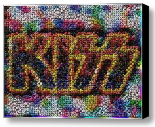 Framed KISS bottle cap mosaic 9X12 inch Art Print Limited Edition with COA