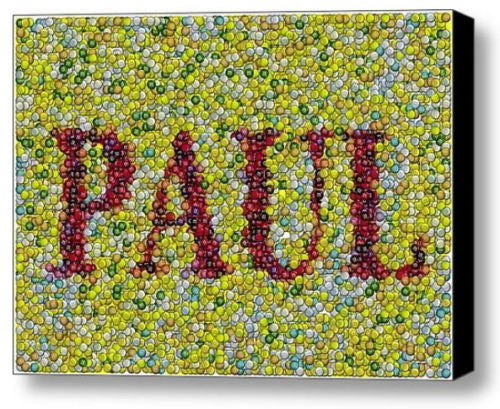 Custom M&Ms Candies YOUR NAME Incredible Mosaic 9X12 Framed Print $99 value , M&M's - n/a, Final Score Products  - 1