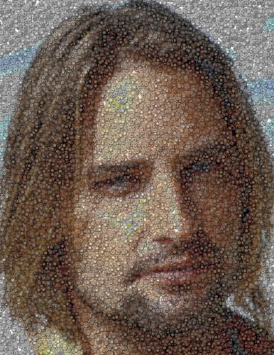 ABC LOST TV Show Amazng Sawyer Dharma button mosaic WOW