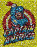 Captain America M&Ms Candy incredible Mosaic candies , Captain America - n/a, Final Score Products  - 1