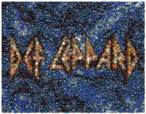 Amazing Def Leppard album photo mosaic LIMTED Ed.8.5X11 , Def Leppard - n/a, Final Score Products  - 1