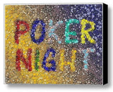 INCREDIBLE Framed Poker Night 9X12 inch Casino Poker Chip Mosaic Art Print , Signs - n/a, Final Score Products  - 1