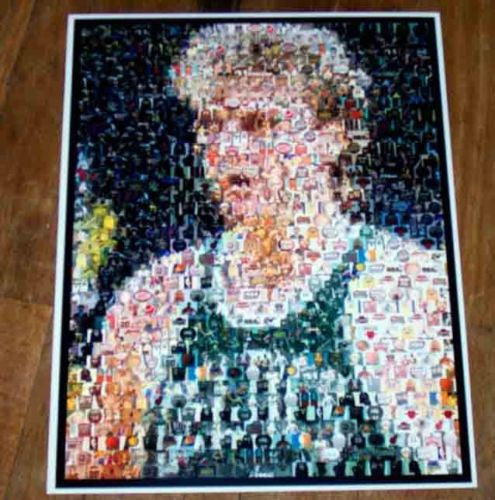 Amazing Boston Celtics Larry Bird NBA Montage #ed w/COA