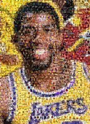Amazing LA Lakers Magic Johnson Montage numbered to 25 , Basketball-NBA - n/a, Final Score Products  - 1