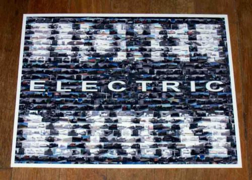 Amazing vintage LIONEL ELECTRIC TRAINS sign montage