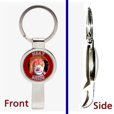 TThe Heat Miser YWASC Pennant or Keychain silver tone secret bottle opener