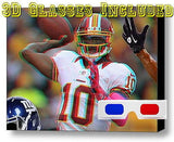 FIRST EVER Framed Washington Redskins RG3 Robert Griffin III 3D Print +glasses , Football-NFL - n/a, Final Score Products