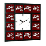 Dr. Pepper I'm a Pepper Clock promo around the Clock with 12 surrounding images , Dr Pepper - n/a, Final Score Products