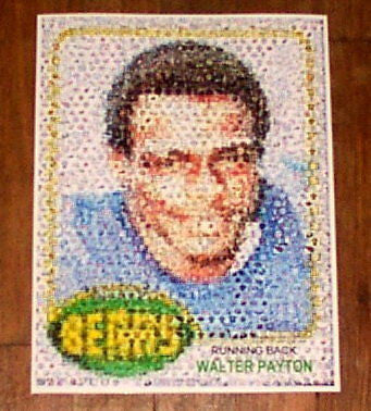 Amazing Chicago Bears Walter Payton Rookie Card Montage , Football - n/a, Final Score Products