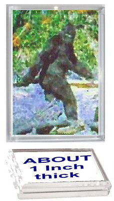Bigfoot Yeti Sasquatch Acrylic Executive Display Piece or Desk Top Paperweight