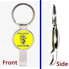 Back To The Future Biffs Pleasure Paradise Casino Keychain secret bottle opener , Reproductions - n/a, Final Score Products