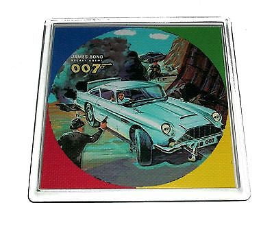 James Bond metal Lunchbox 007 Coaster 4 X 4 inches