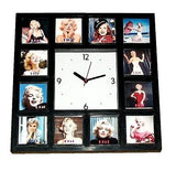 Marilyn Monroe faces through the years 1946-1964 Clock with 12 pictures , Watches & Clocks - n/a, Final Score Products
