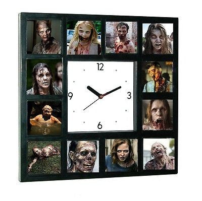 The Walking Dead Horrific Zombies Clock with 12 pictures , Watches & Clocks - n/a, Final Score Products