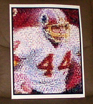 AMAZING John Riggins Washington Redskins Color Montage , Football-NFL - n/a, Final Score Products