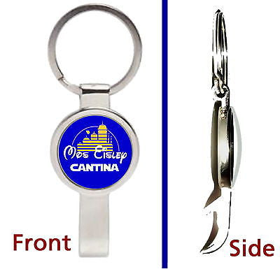 Star Wars Mos Eisley cantina Disney parody Pendant Keychain secret bottle opener