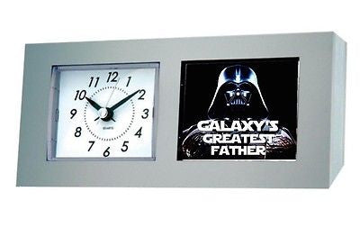 Star Wars Darth Vader Galaxy's Greatest Dad Best #1 Fathers Day Desk Table Clock , Darth Vader - n/a, Final Score Products
