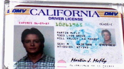 Marty McFly Back To The Future Drivers License Fridge Magnet 2.5 X 3.5 inches , Reproductions - n/a, Final Score Products