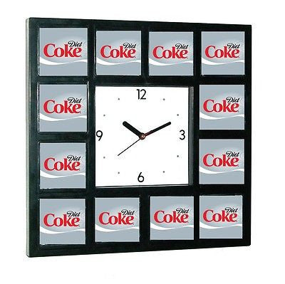 Diet Coke Coca Cola around the Clock with 12 pictures , Clocks & Radios - n/a, Final Score Products