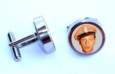 Barney Fife Cuff Links silver steel wedding Groomsmen Gift Andy Griffith Show