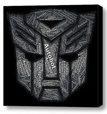 Transformers Autobot Word Mosaic INCREDIBLE Framed 8X8 Limited Edition Art w/COA , Other - n/a, Final Score Products