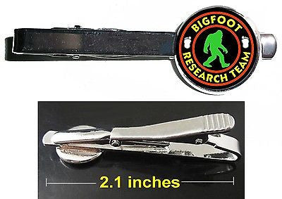 Yeti Sasquatch Bigfoot Resarch Team Tie Clip Clasp Bar Slide Silver Metal Shiny , Other - n/a, Final Score Products