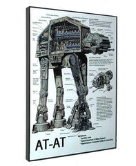 framed AT-AT Vehicle Weapon plans diagram Star Wars display , Posters, Prints - n/a, Final Score Products