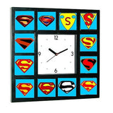 Superman Man of Steel Chest Emblem logo S history Clock , Watches & Clocks - n/a, Final Score Products