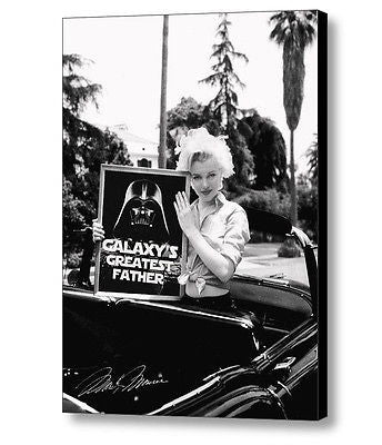 Framed Marilyn Monroe Star Wars Darth Vader Galaxys Greatest Father Dad , Other - n/a, Final Score Products