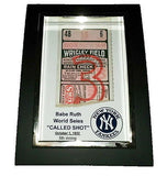 Mini New York Yankees Babe Ruth Called Shot ticket Framed Art Print  Memorabilia , Prints - n/a, Final Score Products